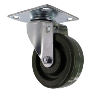 Hi Temp Green Wheel with Baxter Style Zinc Plated Caster