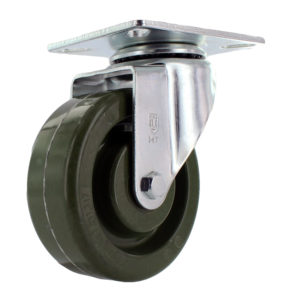 Hi Temp Green Wheel with Standard Zinc Plated Caster