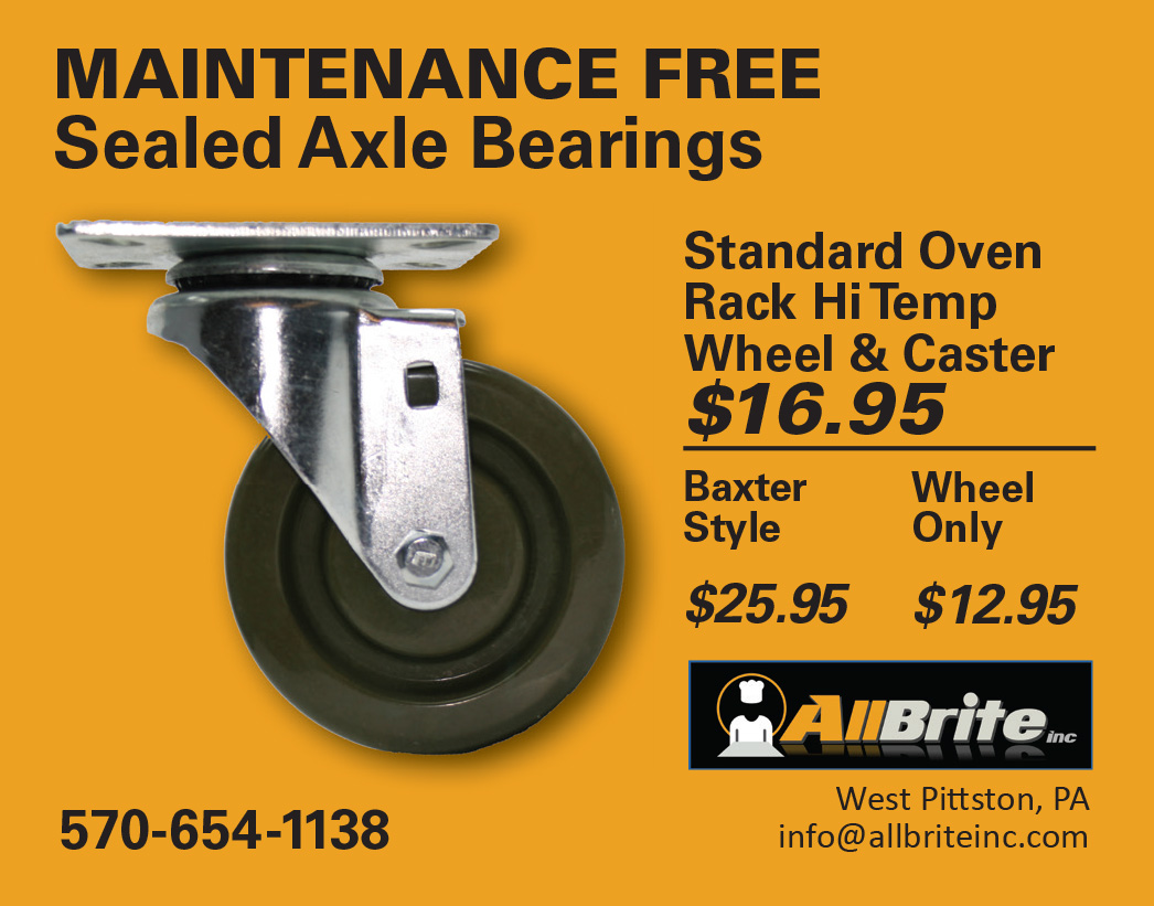 AllBrite Hi Temp Wheel & Caster Ad